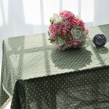 Free Shipping Hot Sale Korean Small Dots Green Table cloth High Quality Decor Home Table/Refrigerator Linen Cotton Dust Cover