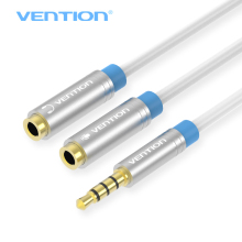 Vention Jack 3.5mm Mic + Headphone Splitter Audio Cable Gold-Plated 3.5 mm Jack Aux Cable Cord for Computer Microphone Cellphone(China)