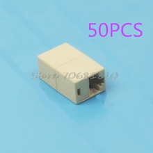 50Pcs RJ45 CAT5 CAT5E Network Ethernet Modular Plug Connector Adapter New Drop Shipping(China)