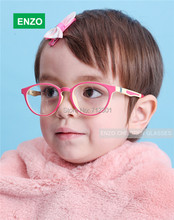 Girls' Optical Frame with Spring Hinge Size 48mm, TR90 Bendable Boys' Eyeglasses, Kids Durable Safe Glasses Frame