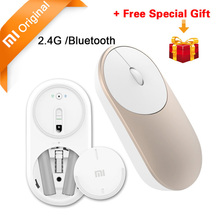 Original Xiaomi Mouse Portable Optical Wireless Bluetooth Mouse 4.0 RF 2.4GHz Dual Mode Connect for Laptop pc with Battery Stock(China)