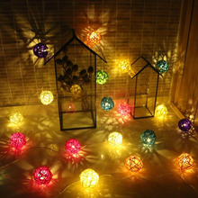 20 LED Colorful lights flashing light Christmas Thailand romantic wedding room decoration lamp lamp small neon lights battery 4M(China)