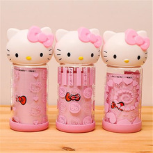 New glass cute cartoon hello kitty glass wholesale exquisite printing KT head green cup