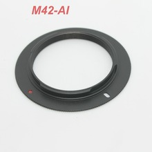 lower price 10PCS Wholesale Lens M42 Lens TO for NIKON AI Adapter D3000 D5000 D90 D700 D300S D60 D3X Metal