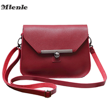 MTENLE Small Women Messenger Bag Simple Designer PU Leather Crossbody Bag Ladies Hasp Lock Flap Female Bags Bolsas Femininas FI