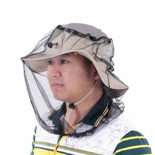 360 Degree Sunshade Anti-mosquito Mask Hat Beekeeping Insect Mask Fishing Camping Mesh Cloth Face Mask Net Cap Fishing Hat(China)