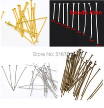 (500Pcs/lot )20mm Pick 4 Color Head Pins Findings DIY Jewelry Findings(w02947)Free Shipping!