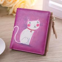 Fashion Coin Purse&Wallets Women Vintage Marilyn Monroe Cartoon Cat Women Wallets Brand Female Thin Short Wallet Clutch Purses