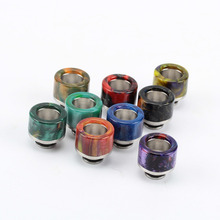 Coil Father 510 Epoxy Resin Drip Tip Stainless Steel Short Wide Bore Drip Tip Mouthpiece For TFv8 Baby Tank Atomizer Vape(China)