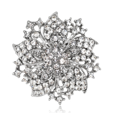 danbihuabi New Fashion Vintage Style  Multicolor Pins Brooches Crystal Rhinestone Brooch For Women Wedding Dress Low Price