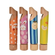 Boys Girls Wooden Toy Musical Instrument Kid Children Flute Small Drawing Whistles Toy Gift