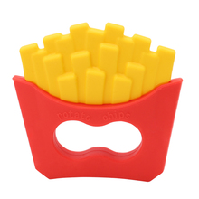 M89CNew Funny Baby Potato Chips Teether Pacifier Clip Food Grade Silicone BPA Free