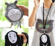 Kawaii 15CM Approx. MASK MAN + TOTORO Choice - Neck String Satchel Plush Backpack Doll Case(China)