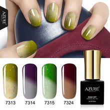 AZURE BEAUTY Thermo Gel Polish Nail Varnish 4pcs/lot Set For Nail Design Soak Off Azure Nail Gel Polish Hybrid Enamel