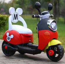 Special Offer 75 days Free Shipping Three Colors Mickey Child Ride On Electric Toy Motorcycle Bike For 1-5 Years Old Age Baby(China)