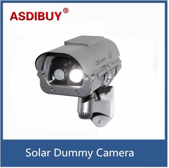 Solar Simulation Camera Dummy Fake Surveillance CCTV Security with flashlight And Motion Detector bullet cabera false camera<br>