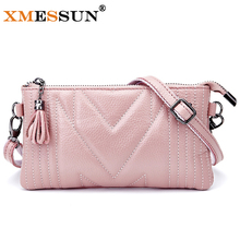 XMESSUN Brand Genuine Leather Messenger Bags High Quality Women Shoulder Bag Envelope Women Clutch Bag Small Crossbody Bag L230