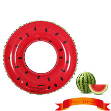 Fruit Style Watermelon Painting Adult / Child Thicken PVC Swimming Ring Floating Rings Kids Inflatable Swiming Laps(China)