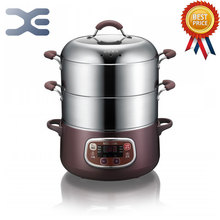 Steamed Food Warmer 220V Steamer Bun Warmer Cooking Appliances Electric Steamer 1200W(China)