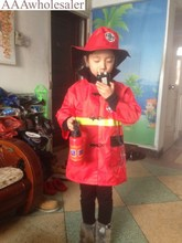 Fireman Costumes Children's The Carnival Masquerade Cosplay Clothes Christmas new 2017 Costumes for kids Girls(China)