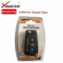 5 PCS XHORSE VVDI2 For Toyota Type Wireless Universal Remote Key 3 Buttons (Individually Packaged)(China)