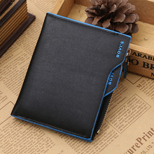 Top Men Wallet Short Design Male Purse Card Holder Brand PU Leather Wallets Zipper Pocket Slim Purse Bifold Carteira masculina
