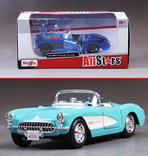 1:24 Maisto for Chevrolet Corvette 1957 convertible alloy car model toys for Baby Gifts Original Box