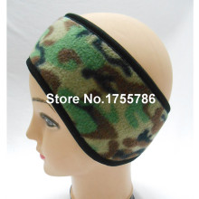 6Pcs/Lot Camouflage Color Polar Fleece Headband With Ear Warmers No Sticker Design
