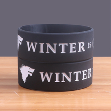 2 Colors WINTER IS COMING Silicone Bracelets Wide Version Silicone Wristband High Quality Jerwerly Classic Band Popular Bracelet(China)
