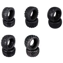 2PCS Natural Rubber Tire Tyre For Rc Hobby Car 1/10 Monster Truck Big Foot Truggy HSP Himoto HPI Traxxas Redcat Kyosho Wheel Rim(China)