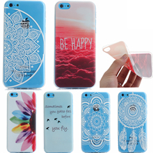 Case for iPhone 5C Cover mobile Phone Cases Coque Fashion wind peacock flower soft silicone TPU for 5c case