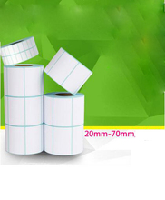Adhesive Thermal Label Sticker Paper Supermarket Price Blank Label Direct Print Waterproof