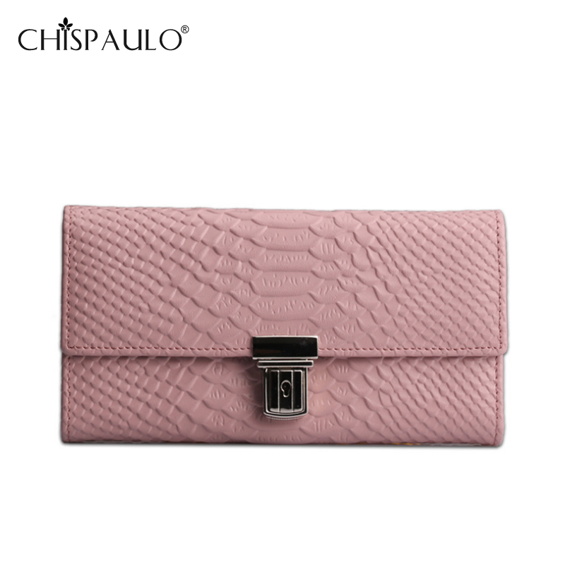 Women Genuine Leather Wallets Long Serpentine Wallet Lady Card Holder Clutch Purse Large Capacity Brand Wallet billetera mujer<br><br>Aliexpress
