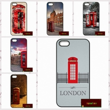 Red Telephone Box London Cover case for iphone 4 4s 5 5s 5c 6 6s plus samsung galaxy S3 S4 mini S5 S6 Note 2 3 4  DE0185