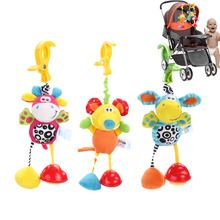 Baby Toys Rattles Soft Mouse Donkey Deer Plush Kids Toys for Children Newborns Animal Clip Crib Bed Stroller Hanging Bells Dolls