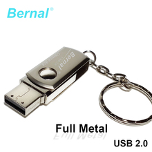 Bernal Stainless steel mini usb flash drive 32gb pendrive high speed usb Flash 2.0 drive flash disk 16gb 64gb PEN DRIVE 8gb(China)