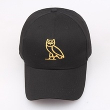 2017 Fashion Unisex Owl Embroidery Baseball Cap Curved Brim Summer Animal Printing Hip Hop Caps Snapback Hats For Men And Women