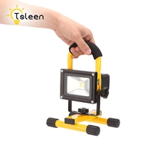 Cheap Waterproof IP65 LED Flood light 20W Portable Spotlights Rechargeable Outdoor LED Work Emergency light Spot Night Light(China)