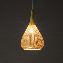 Rattan bamboo pendant lamps Southeast Asian restaurant living room Japanese teahouse authentic creative cage pendant lamps ZA