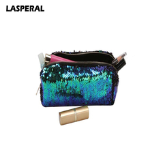 Lasperal Changing Color Makeup Storage Bag Packet Magic Sequins Zipper Storage Organizer Party Decoration Women Packet(China)