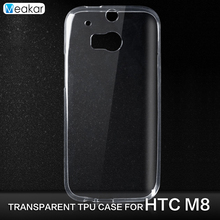 Transparent Soft TPU Silicon 5.0for HTC One M8 Case For HTC One M8 M8s Cell Phone back Cover Case(China)