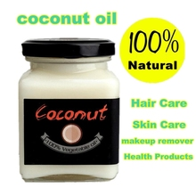 Natural cold pressed virgin coconut oil Skin care,hair care,makeup remover,protect teeth essential oil Natural Health Products(China)