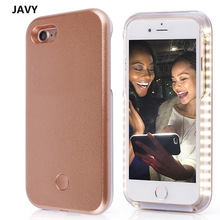 JAVY LED Flash Selfie Light Case For iPhone 7 6S 6 Plus 5 5S Cases For Samsung Galaxy S6 S6 Edge S7 S7 Edge Shells Cover