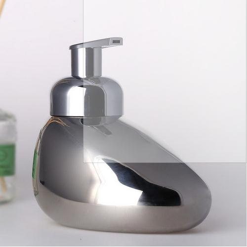 Stainless steel empty lotion bottle facial cleanser foaming bottles foam hand sanitizer pump bottle quality bathroom supplies<br>