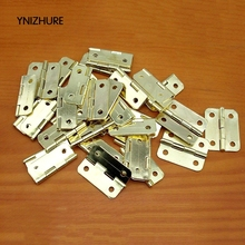 Hardware hinge box 1 inch rounded copper hinge 24 * 20MM wooden gift glass cabinet hinge(China)