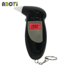 Backlight Three-digit LCD Display Key Chain Alcohol Tester Mouthpieces Mini Digital Alcohol Breathalyzer Professional Alcotester