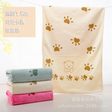 Rabbit Microfiber Baby Kids Beach Bath Towel For Bathing Swimming Absorbent Drying(China)