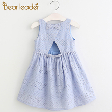 Bear Leader Girls Dresses 2018 New Summer Brand Kids Princess Dress Cute Embroidery Bow Design for Girls 1-6Y Children Clothes(China)