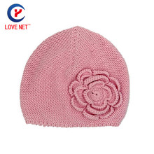 2017 New for 3-6 ages crochet hats for child Flower Caps for girl Kids Knitted Warm hat winter Knitting cap DS20170129 x30