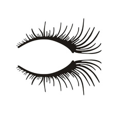 Wholesale 5pcs,10pcs,2Pcs Eyelashes Light Eyebrow Car Stickers Body Sticker Decals Car Door Blocked Scratches Black Silver(China)